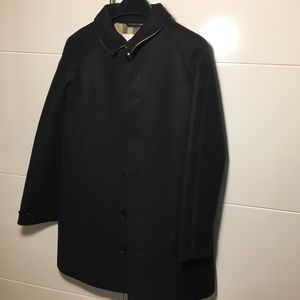 Boy's Burberry Navy wool Peacoat